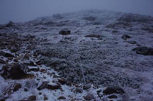 冬の早池峰山