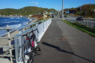 蘭島でロードバイク