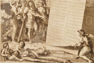de Poilly François - Louis XIV, armé de la massue d'Hercule. Eau forte, fin XVIIe siècle, Musée d'Abbeville / Photo Y. François