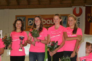 1. Platz  gemeinsam mit Anna Hackl (2.v.l.) v. ESV Union Ertl