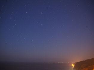 こちらからは下北半島の町灯りがみえます