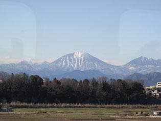 栃木に入れば日光連山の男体山が…