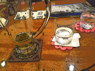 Takanoの空ジョッキ 中身は地ビール…でした
