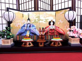 雛人形 焼桐三段飾り