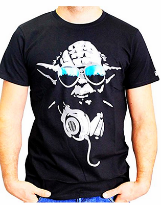 Star Wars T-Shirt Yoda als DJ