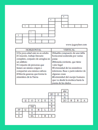 spanish crosswords