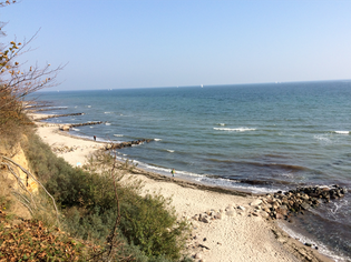 Blick vom Ruheforst Brodau auf die Ostsee