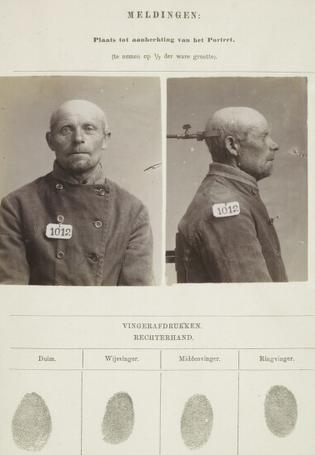 Signalementkaart Veenhuizen opname 27-06-1896