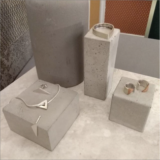 Concrete Display Used And Styled By Lydia Northcott Jewellery