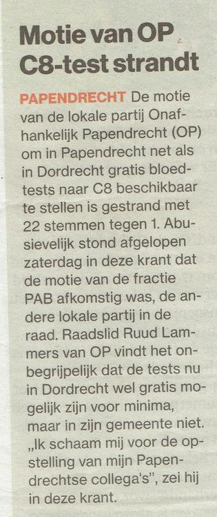 Algemeen Dagblad Drechtsteden d.d. 11 juli 2016