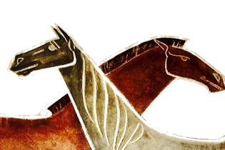 Pferde. Logo Alte Post.