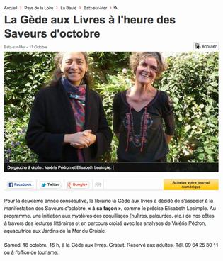 Ouest-France, le 17 octobre 2014