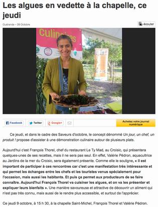 Ouest-France, le 9 octobre 2014