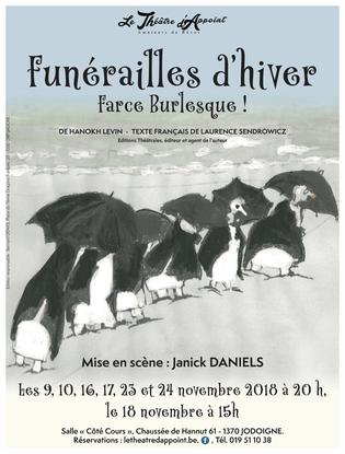 Funérailles d'hiver par le Théâtre d'Appoint dans une mise en scène de Janick Daniels