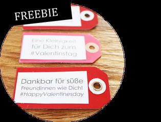 Bild: Partystories, Freebie Geschenkanhänger Valentinstag