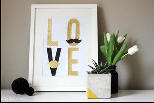 Bild: last-minute DIY Geschenkideen, Geschenke zum Valentinstag oder einfach mal so, Bild als Partydekoration oder Geschenk, gefunden auf Partystories.de