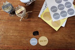 Bild: Sticker, Geschenkideen, Bild: Washitape zum Verpacken, Verpackungsideen, Geschenke schön verpacken, Partystories
