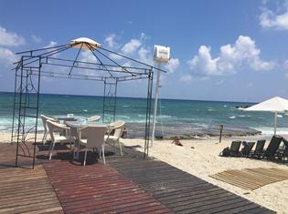 ... mit Strand....