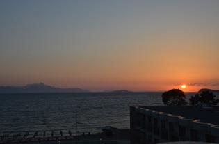 ... und Sonnenuntergang.