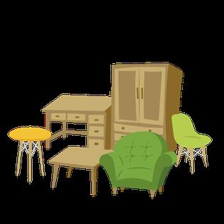 家具処分を自分でやる、大洗町の家具処分