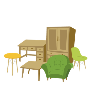 家具処分を自分でやる、常陸大宮市の家具処分