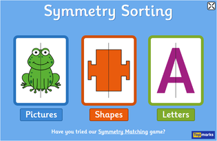 http://www.topmarks.co.uk/symmetry/symmetry-sorting