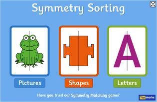 http://www.topmarks.co.uk/symmetry/symmetry-sorting