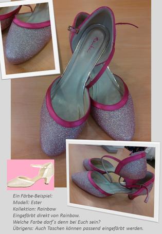 Eingefärbtes Modell Ester in pink
