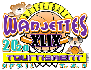 2020 Wanjettes Tournament T-Shirt Design