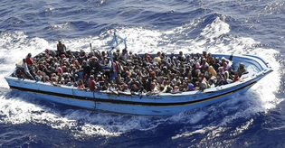 Image: Refugees in the Mediterranean