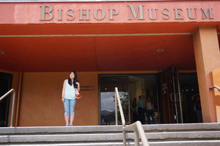 ハワイ オアフ島 ホノルル空港ーワイキキ間の空港送迎、ワイキキからビショップミュージアム送迎、素敵なお母様とお嬢様で観光