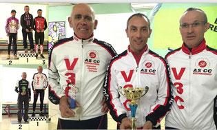 Nos 3 podiums: pour le podium par équipe Loïc était déja parti...