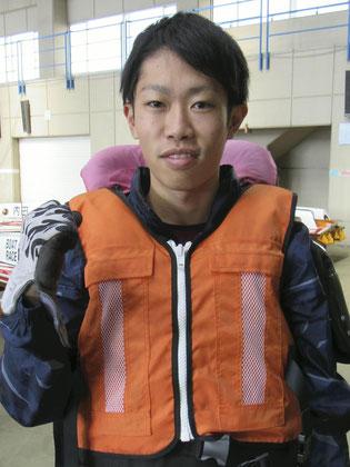 2年連続で徳山フレッシュルーキーに選出された井本昌也