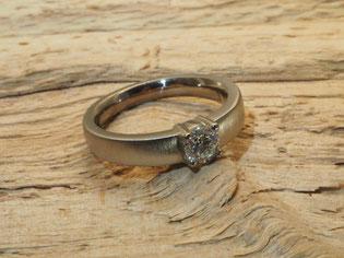 Ring, Brillant, Weißgold