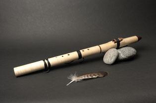Flöte aus Bergahorn, Mundstück Wenge, Ton Cis