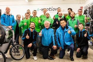 Das Team der e-motion e-Bike Welt Stuttgart