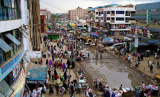 Garissa market in the Somali district of Eastleigh, Nairobi.