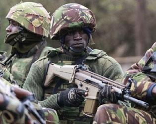 Truppe di assalto keniote.