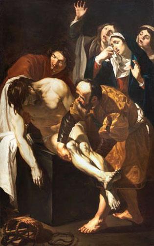 """Dirck van Baburen, """"Die Grablegung"""" um 1617 bis 1621"""
