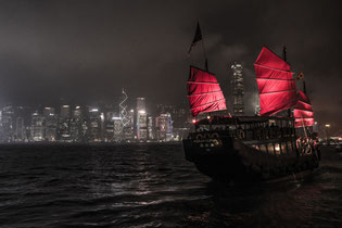 Traditional Chinese junk boat