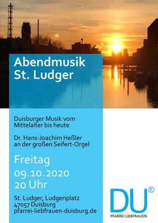 Plakat Abendmusik 09.10.20
