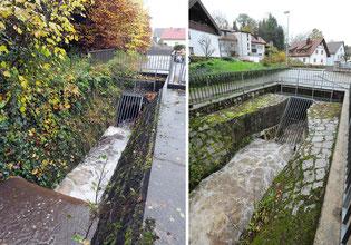 Links: Waldprechtstraße, rechts: Obere Hauptstraße