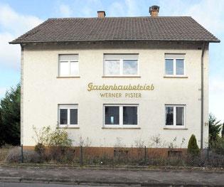 Das Wohnhaus der Familie Pister in der Bahnhofstraße