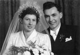 Elis & Otto Kiefer Hochzeit November 1953