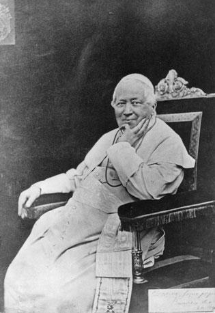 Beato Pío IX. Pontífice de 1846 a 1878. Beatificado por gracia de Dios el año 2000