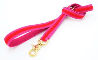 Stadtleine Pink Rot 1m Länge mit Verschluss Gold