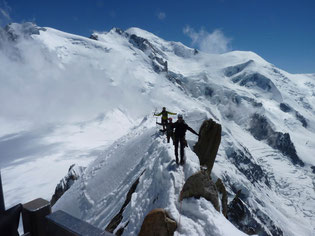 Arête des cosmiques : Aiguille du midi - Chamonix - Mont-Blanc