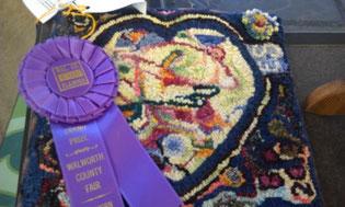 Grand Champion Rug at Walworth County Fair, Wisconsin 2013