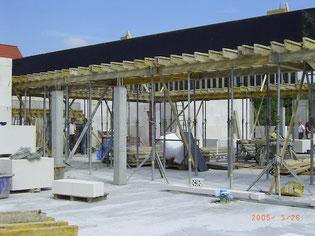 Nybygningen til den nye fællesskole tager form (2005)