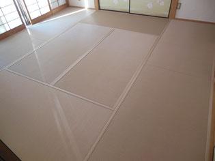 畳床も新しく セキスイ美草モカベージュ